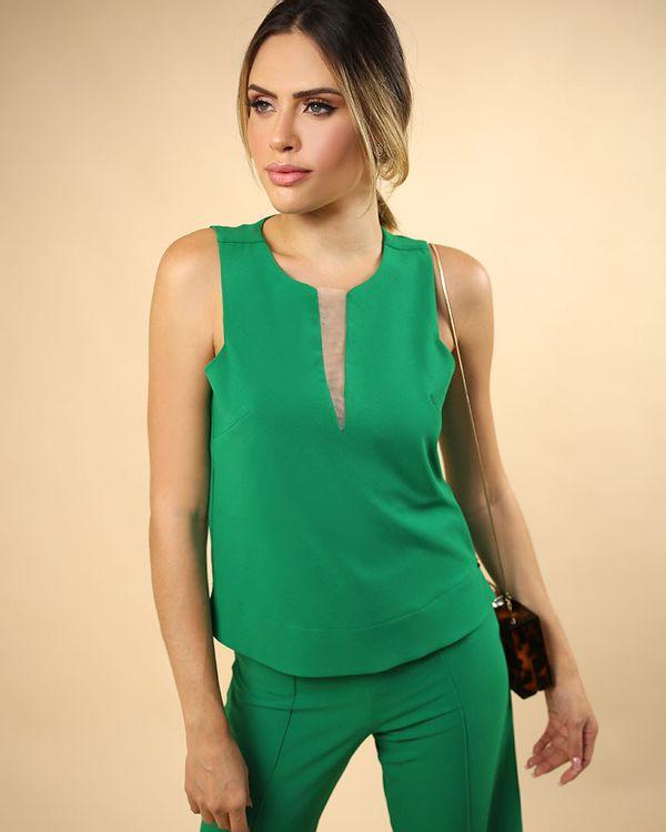 Blusa-Super-Cava-Crepe-Decote-com-Tule-Verde-Pistache