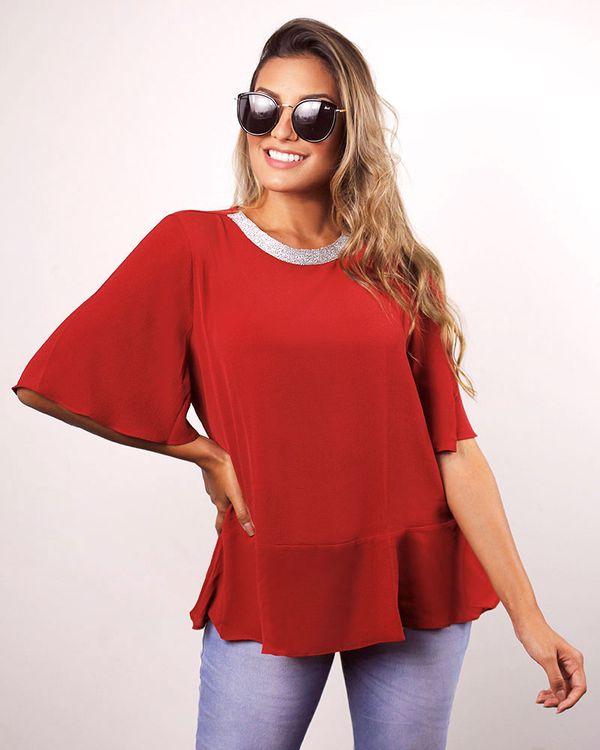 Blusa-Crepe-Mangas-Soltas-com-Aplicacao-Fio-Metalic-No-Decote-Vermelho