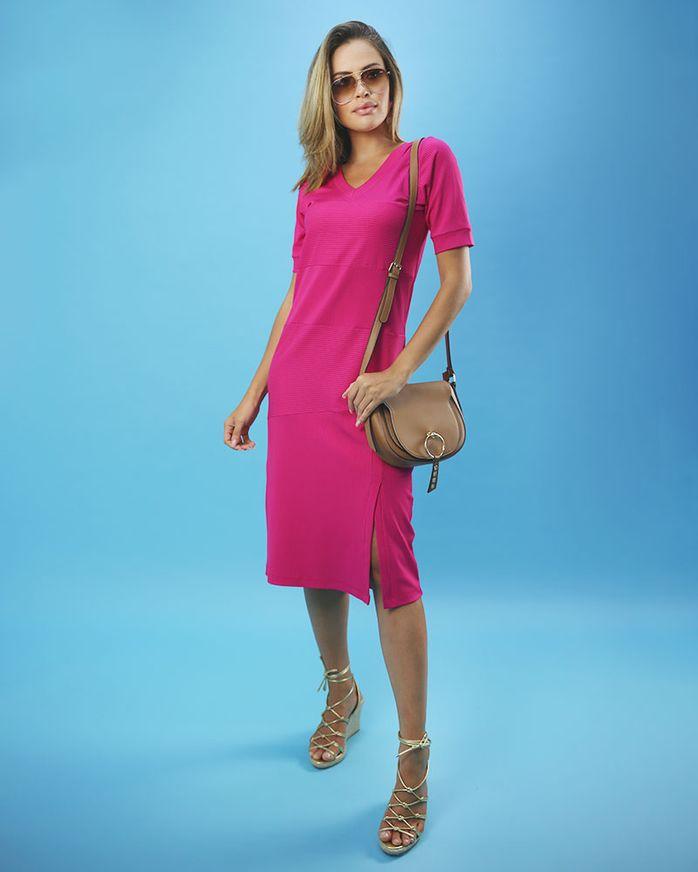 Vestido-Midi-Malha-Canelado-Frente-com-Fenda-Pink