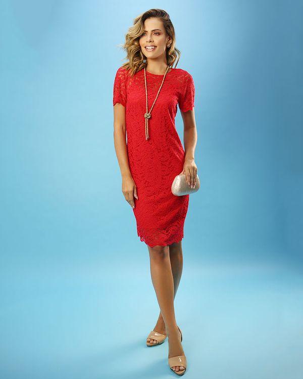 Vestido-Renda-Manga-Curta-Vermelho