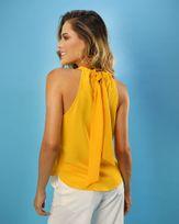 Blusa-Tecido-Super-Cava-Decote-com-Argola-Resinada-Amarelo-Vida