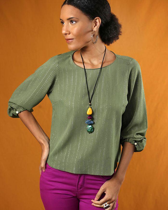 Blusa-Tecido-com-Fio-Metalic-Verde