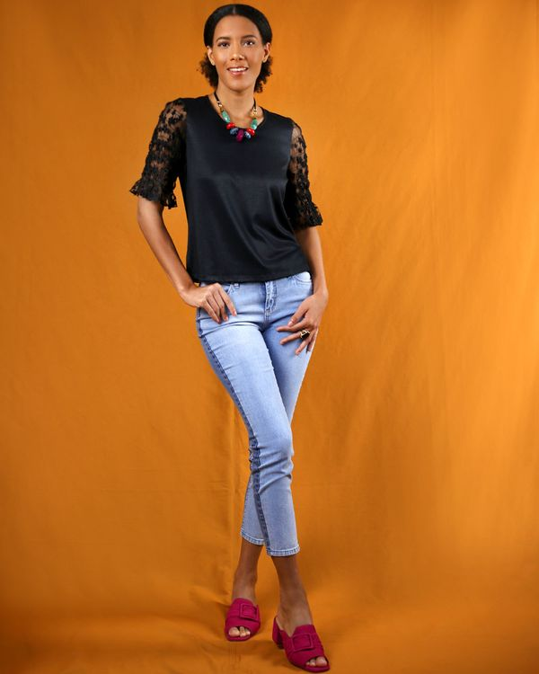 Calca-Skinny-Jeans-Stretch-Bicolor-Azul