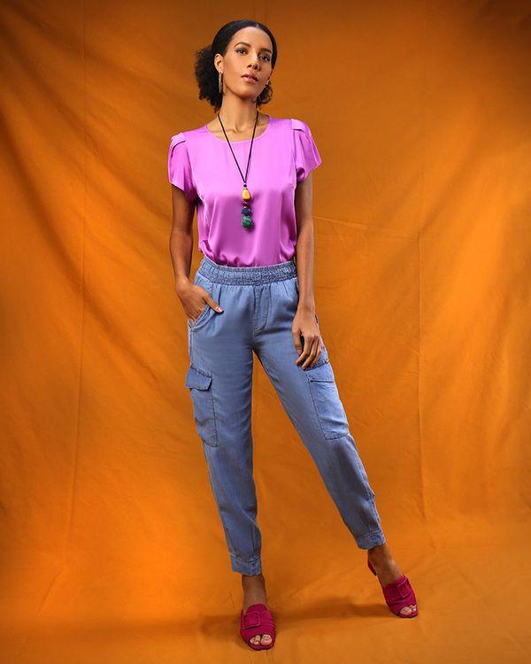 Calca-Utilitaria-Jeans-Cos-com-Elastico-Azul-
