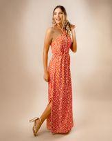 Vestido-Longo-Tecido-Estampado-Decote-com-Torcal-Laranja