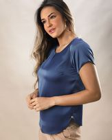 Blusa-Tecido-Acetinado-Decote-Franzido-Azul