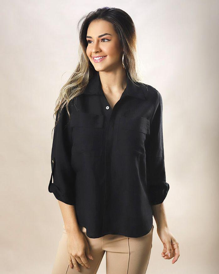 Camisa-Utilitaria-Tecido-Mangas-com-Martingale-Preto
