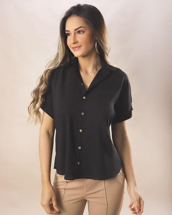 Camisa-Tecido-Manga-Curta-Preto