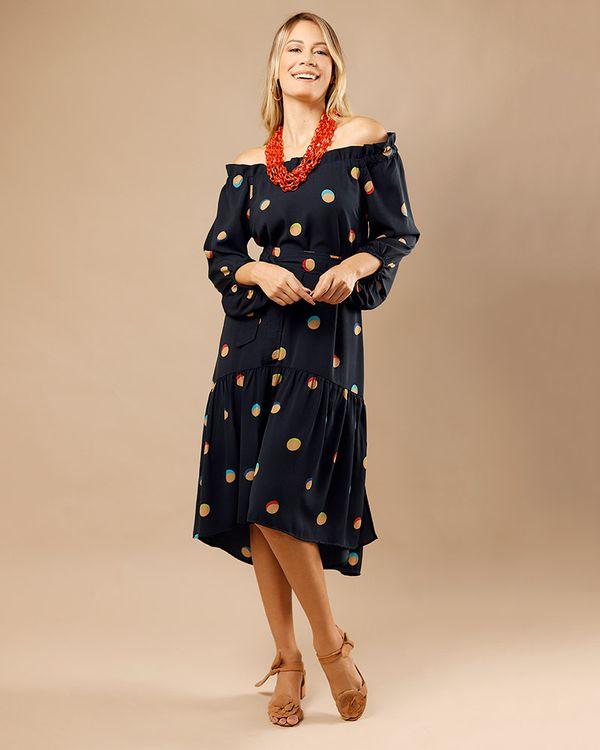 Vestido-Midi-Tecido-Estampado-Barra-com-Babado-Marinho