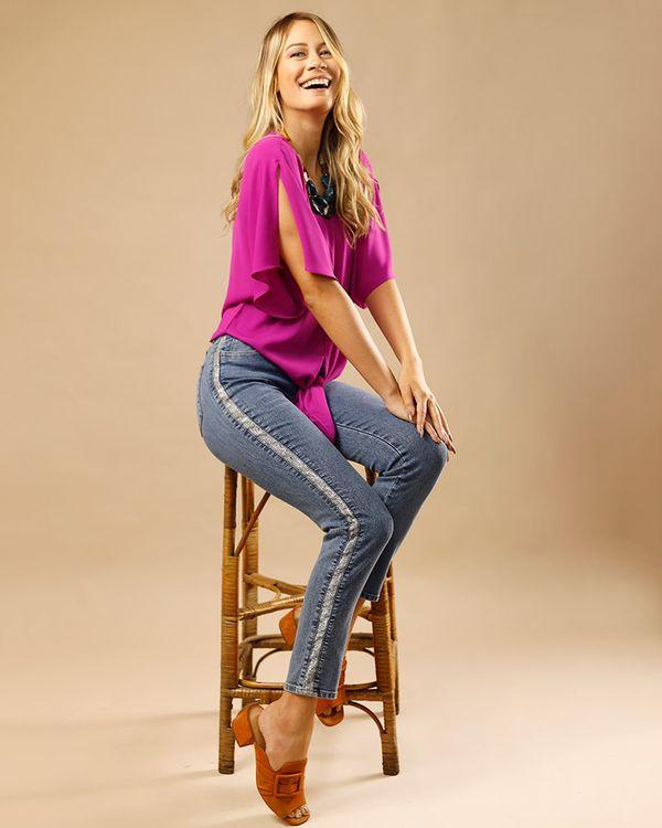 Calca-Skinny-Jeans-Lateral-Metalic-Azul