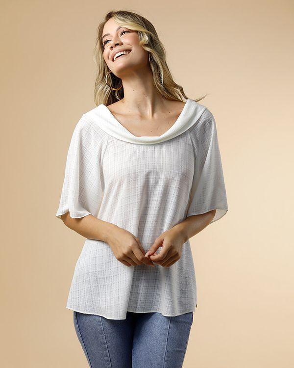 Blusa-Tecido-Texturizado-Gola-Virada-Off-White