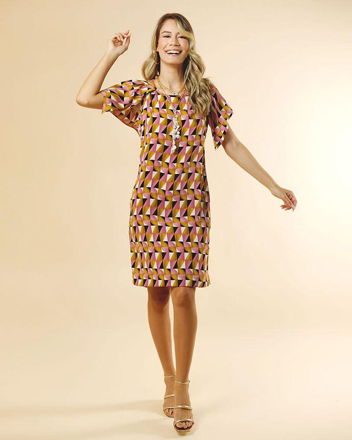 Vestido-Tecido-Estampa-Arrecifes-Mangas-com-Pregas-Estampado