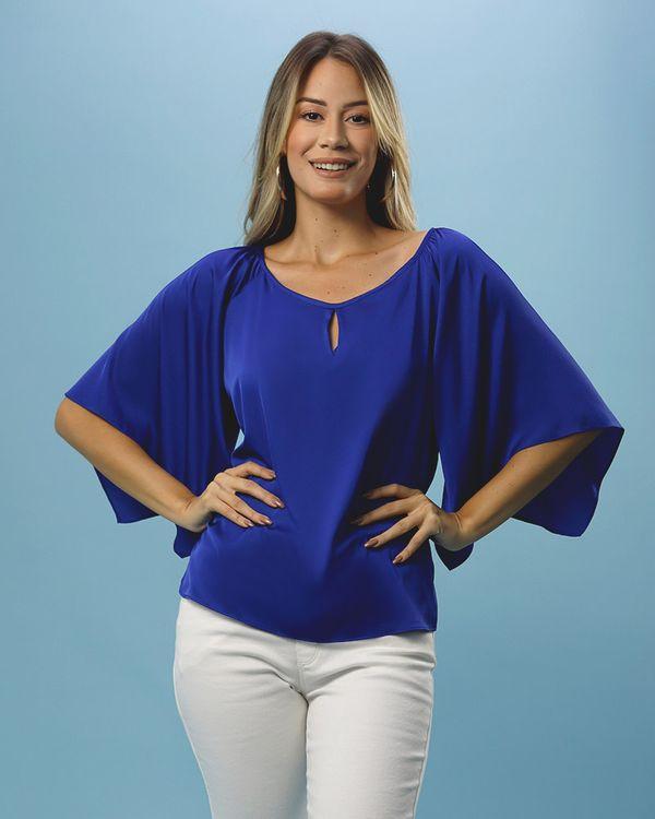 Blusa-Tecido-Acetinado-Mangas-Kimono-Azul