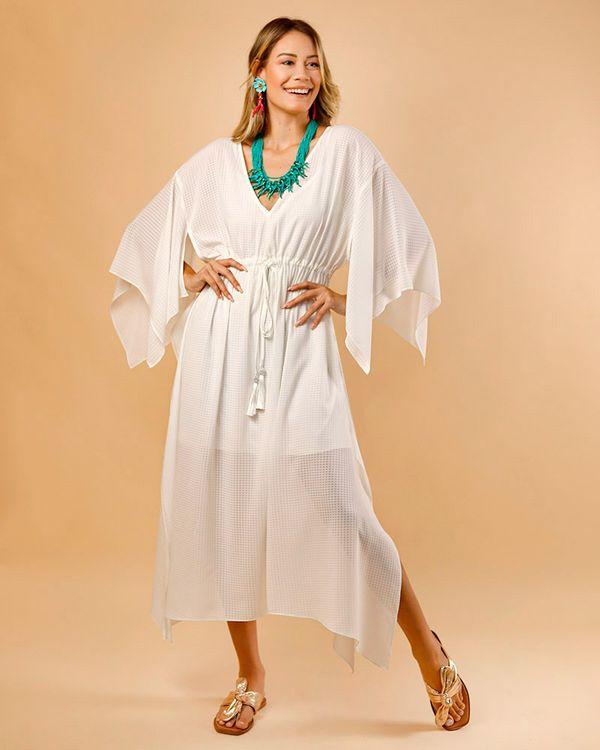 Vestido-Caftan-Tecido-Texturizado-Off-White