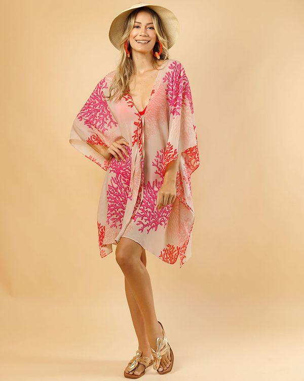 Vestido-Caftan-Tecido-Estampado-Corais