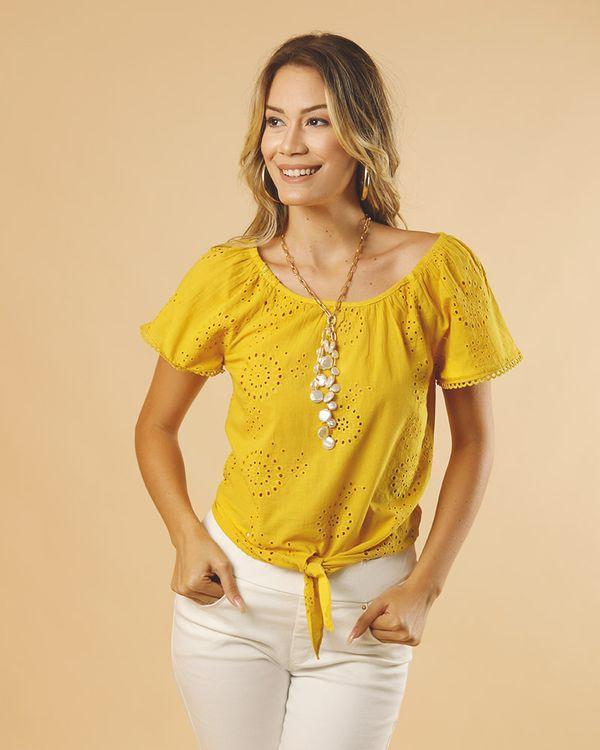 Blusa-Tecido-Laise-Decote-Ombro-a-Ombro-Amarelo