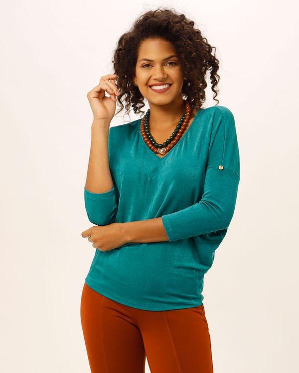 Blusa-Bolha-Malha-Texturizada-Verde