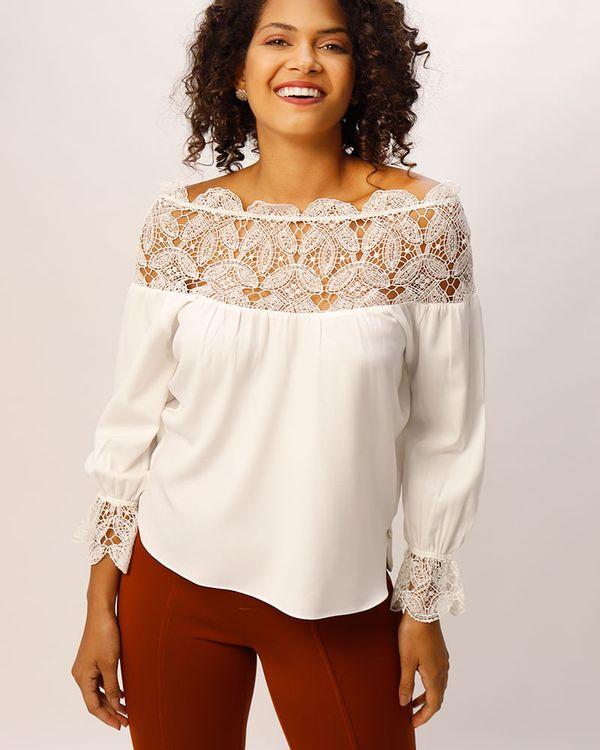 Blusa-Tecido-Decote-e-Punho-Guipir-Off-White