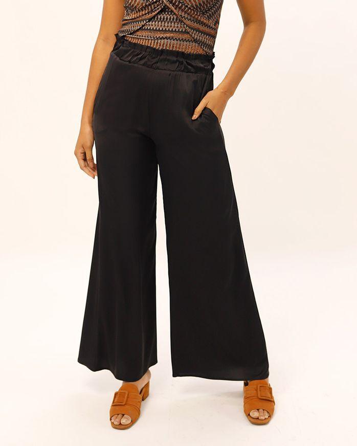 Calca-Pantalona-Tecido-Acetinado-Cos-de-Elastico-Preto