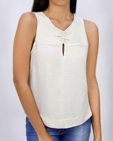 Blusa-Tecido-Texturizado-Frente-Franzida-Gengibre-