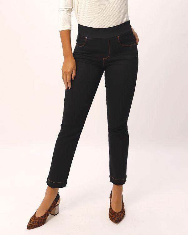 Calca-Keila-Jeans-Black-Pespontos-Contrastantes-Preto