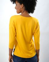 Blusa-Malha-Decote-V-Amarelo