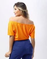 Blusa-Malha-Textura-Poas-Tangerina
