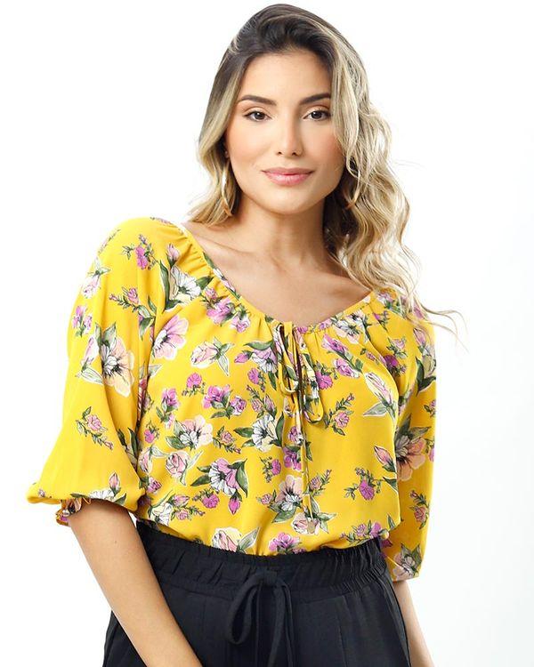Blusa-Crepe-Estampa-Floral-Amarelo-Solar-