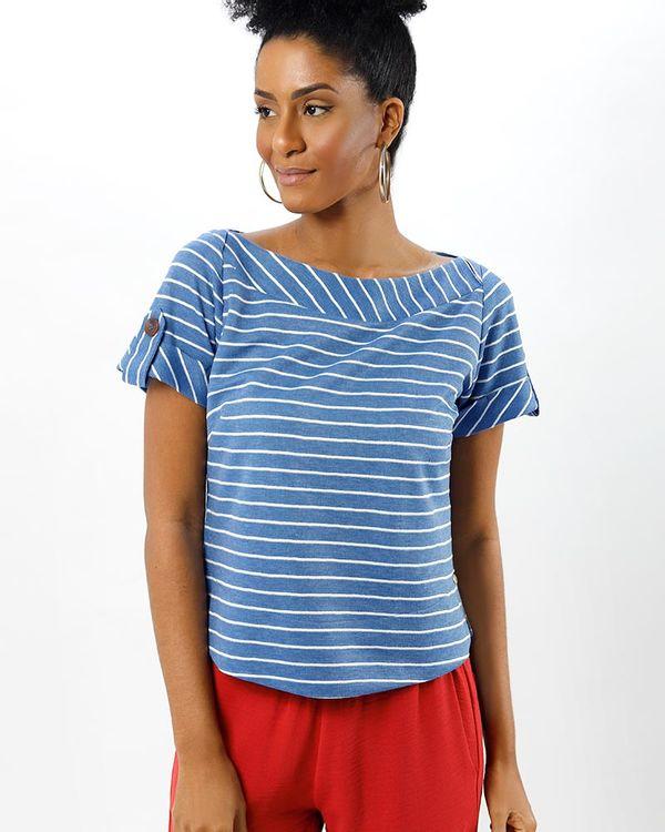 Blusa-Malha-Listras-Decote-Transpassado-Azul-Sublime
