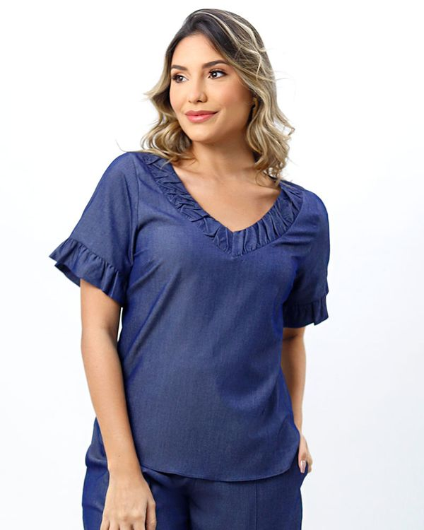 Blusa-Jeans-Leve-Mangas-Balone-Azul