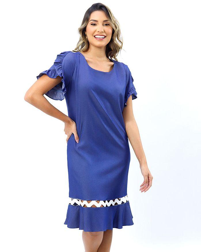 Vestido-Jeans-Leve-Mangas-de-Babados-Azul