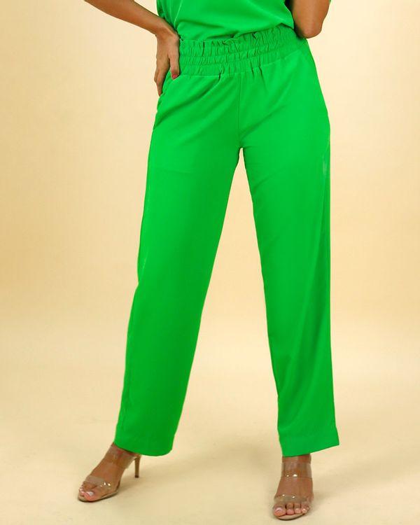 -Calca-Comfy-Tecido-com-Cos-de-Elastico-Verde-