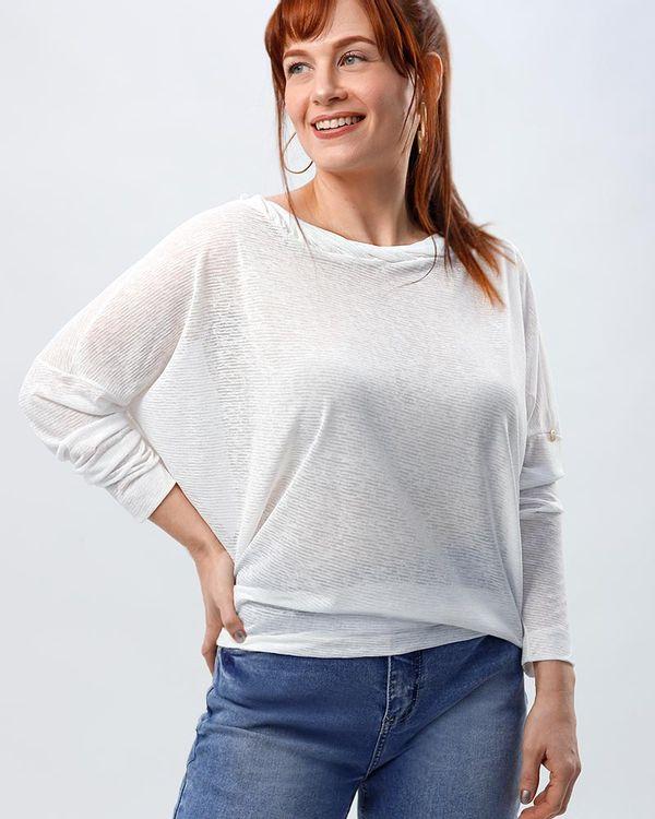 Blusa-Bolha-Malha-Texturizada-Decote-Torcido-Branco