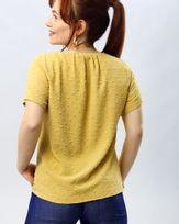 Blusa-Tecido-Textura-Poas-Amarelo-