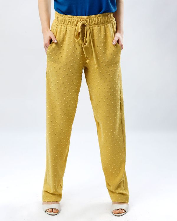 Calca-Comfy-Tecido-Texturas-Poas-Amarelo