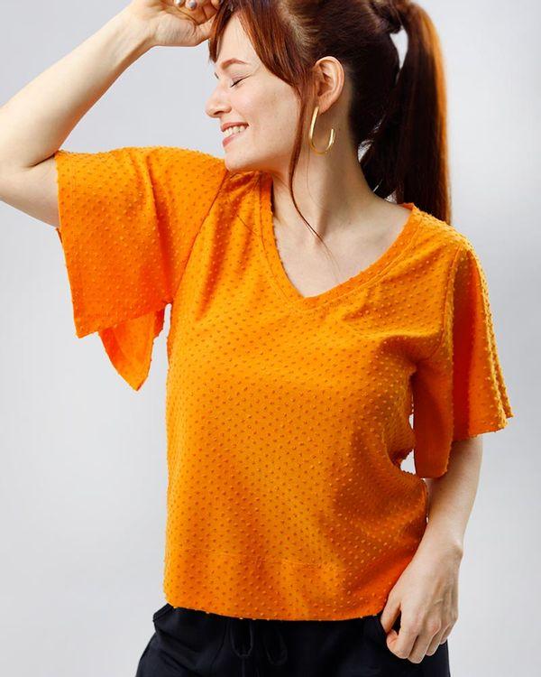 Blusa-Malha-Textura-Poas-Mangas-Kimono-Tangerina