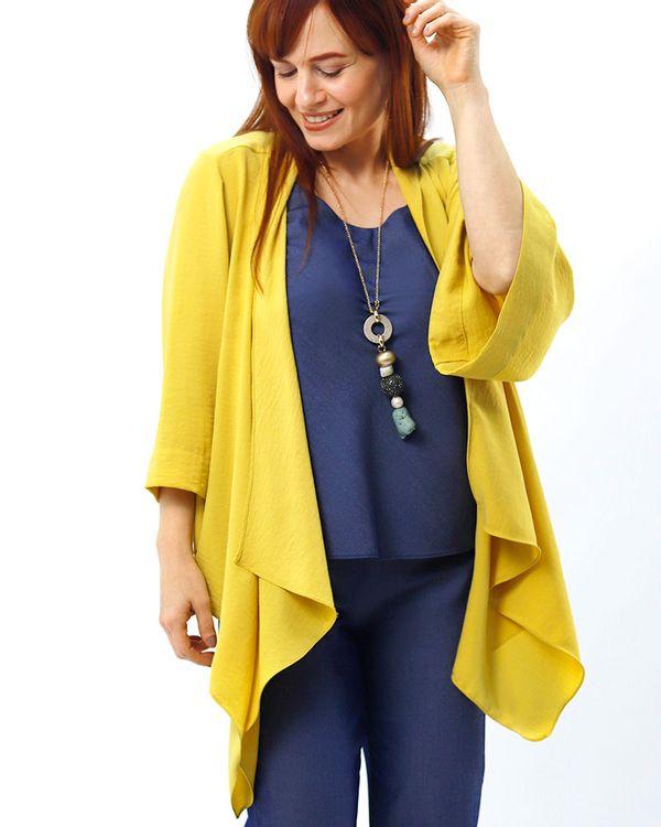 Kimono-Tecido-Texturizado-Pontas-Assimetricas-Amarelo