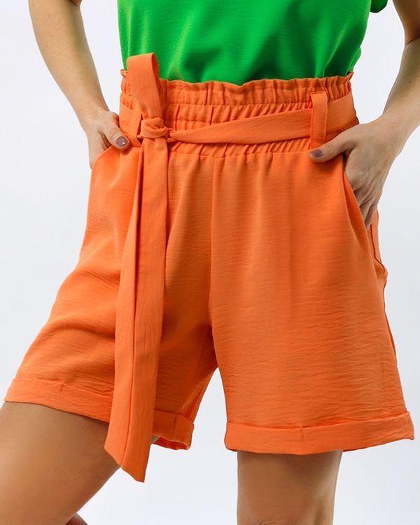 Short-Comfy-Tecido-Texturizado-com-Faixa-Laranja-Energia
