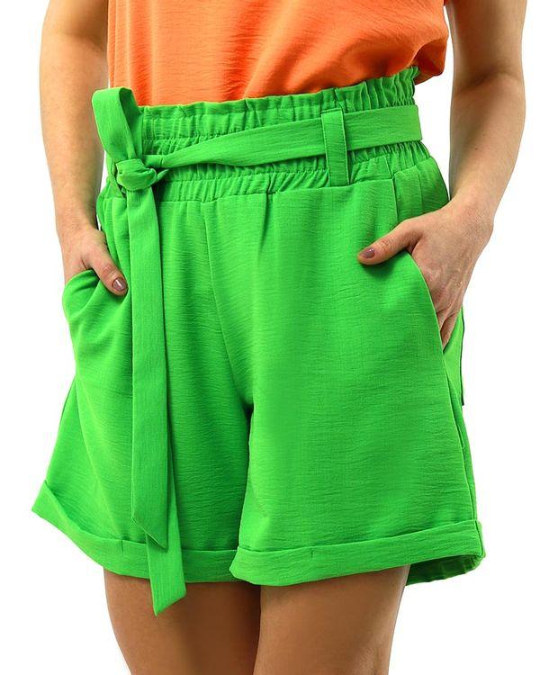 Short-Comfy-Tecido-Texturizado-com-Faixa-Verde-Luz-