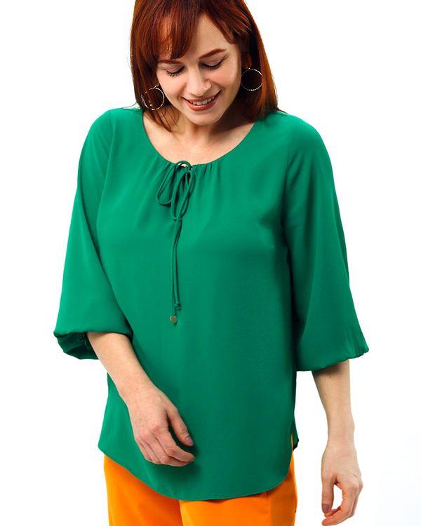 Bata-Tecido-Texturizado-Decote-Franzido-Verde-Luz-