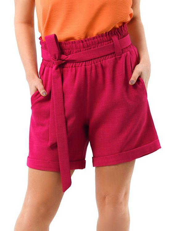 Short-Comfy-Tecido-Texturizado-com-Faixa-Hot-Pink-