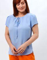 Blusa-Tecido-Texturizado-Decote-Franzido-Azul-Oceano