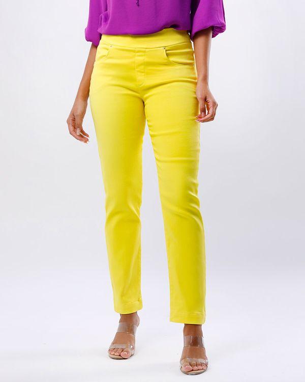 Calca-Keila-Sarja-Color-Cos-de-Elastico-Amarelo-Alegria