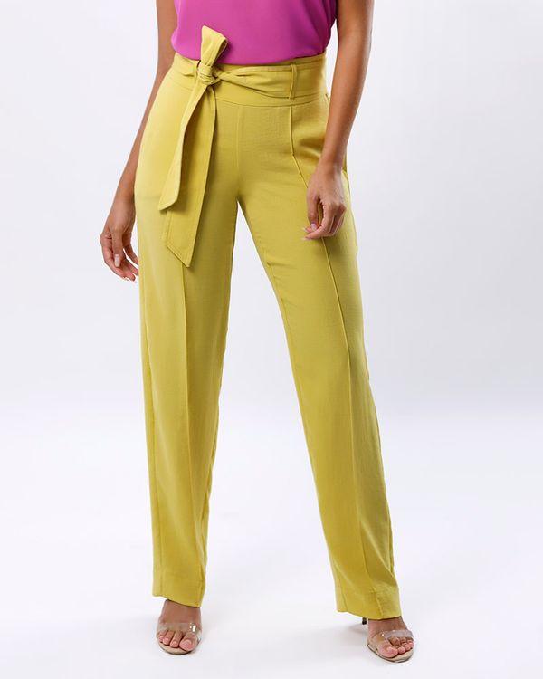 Calca-Reta-Tecido-Texturizado-com-Faixa-Amarelo
