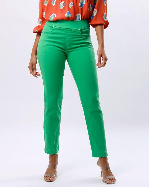Calca-Keila-Sarja-Color-Cos-de-Elastico-Verde-Luz