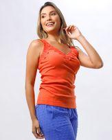 Blusa-Malha-Canelada-Decote-com-Renda-Laranja-Energia