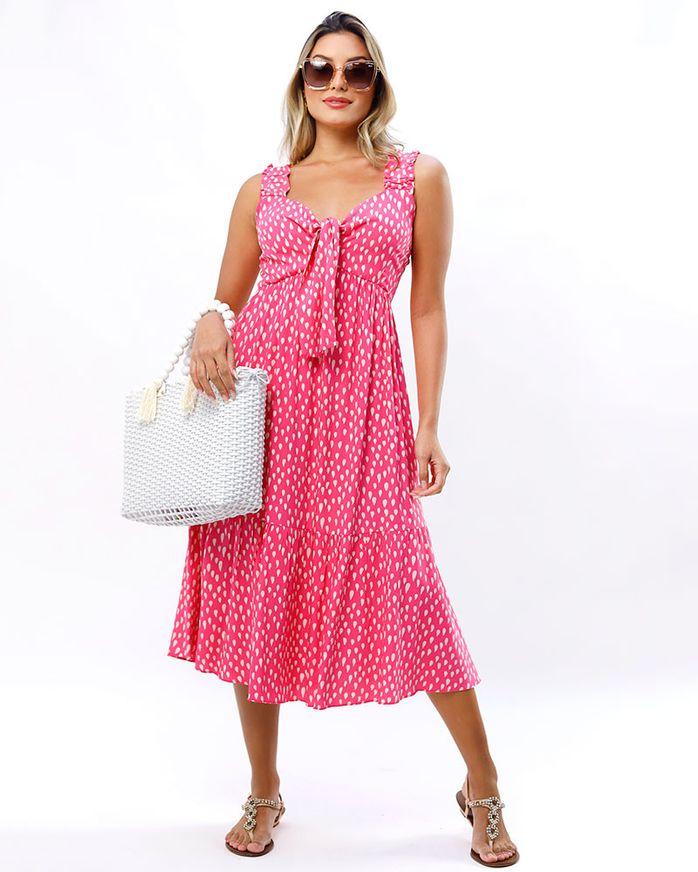 Vestido-Midi-Tecido-Estampado-Rosa