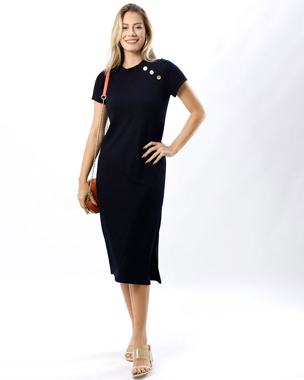 Vestido-Midi-Malha-Botoes-Personalizados-Preto
