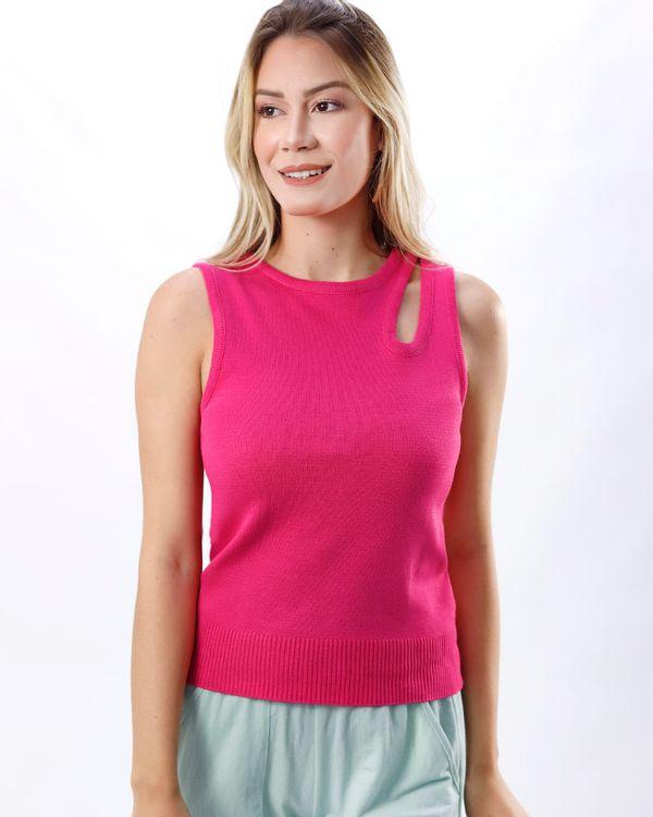 Blusa-Trico-Detalhe-Vazado-Hot-Pink