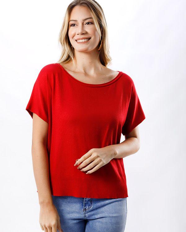 Blusa-Trico-Manga-Curta-Vermelho